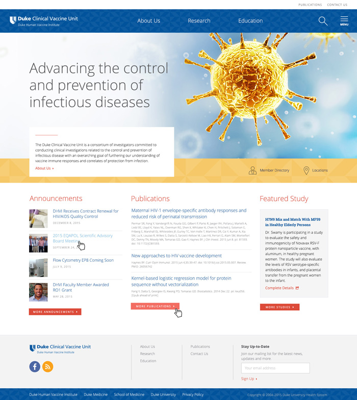 Clinical Vaccine Unit Home Page